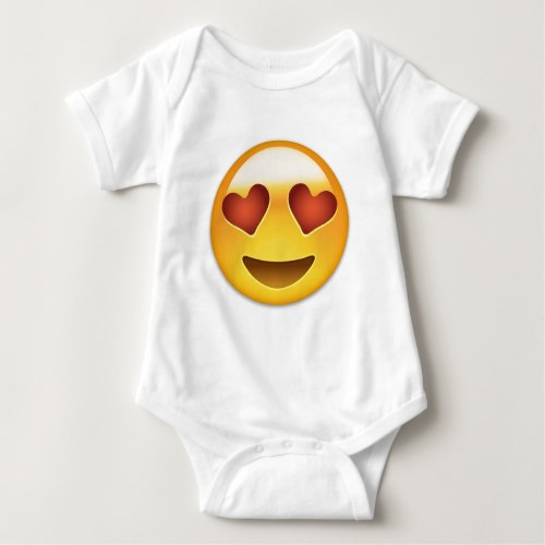 Smiling Face With Heart Shaped Eyes Emoji Baby Bodysuit