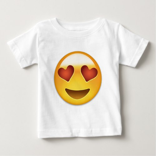 Smiling Face With Heart Shaped Eyes Emoji Baby T-Shirt