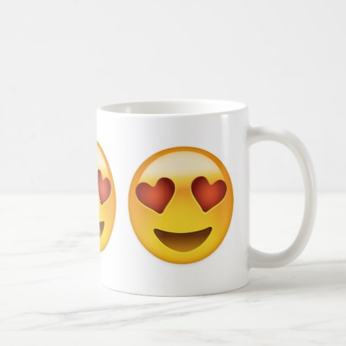 Smiling Face With Heart Shaped Eyes Emoji Coffee Mug