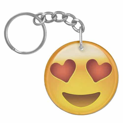 Smiling Face With Heart Shaped Eyes Emoji Keychain