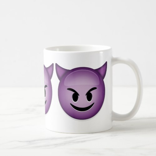 Smiling Face With Horns Emoji Coffee Mug