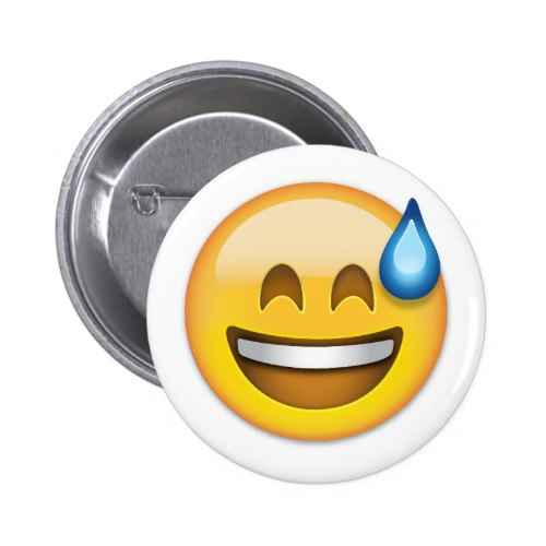 Smiling Face With Open Mouth And Cold Sweat Emoji Button