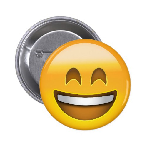 Smiling Face With Open Mouth & Smiling Eyes Emoji Button