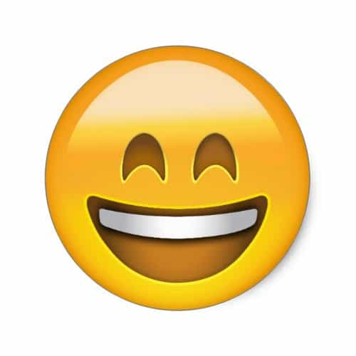 Smiling Face With Open Mouth & Smiling Eyes Emoji Classic Round Sticker