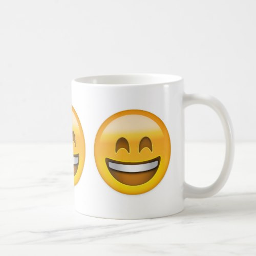 Smiling Face With Open Mouth & Smiling Eyes Emoji Coffee Mug