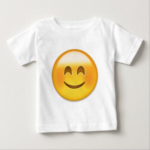 Smiling Face With Smiling Eyes Emoji Baby T-Shirt