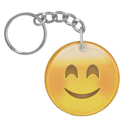 Smiling Face With Smiling Eyes Emoji Keychain