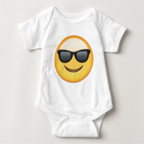 Smiling Face With Sunglasses Emoji Baby Bodysuit