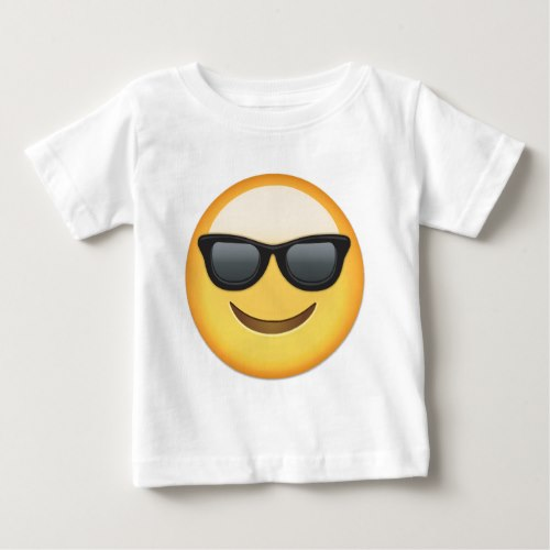 Smiling Face With Sunglasses Emoji Baby T-Shirt