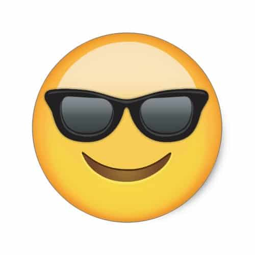 Smiling Face With Sunglasses Emoji Classic Round Sticker