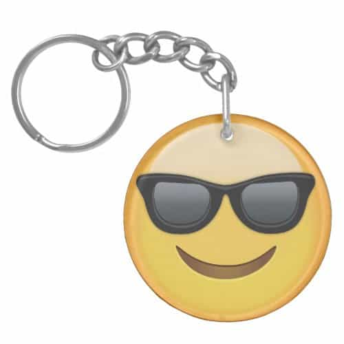 Smiling Face With Sunglasses Emoji Keychain