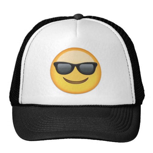 Smiling Face With Sunglasses Emoji Trucker Hat