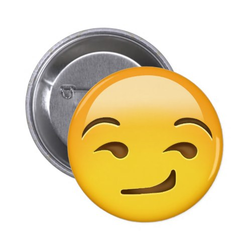 Smirking Face Emoji Button