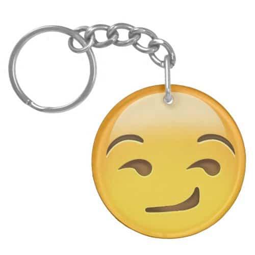 Smirking Face Emoji Keychain