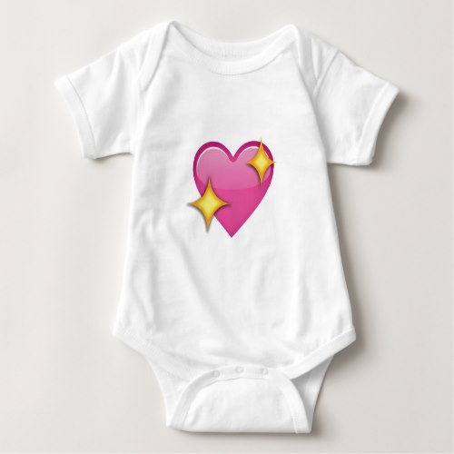Sparkling Heart Emoji Baby Bodysuit
