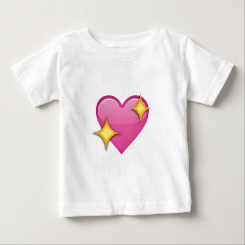 Sparkling Heart Emoji Baby T-Shirt