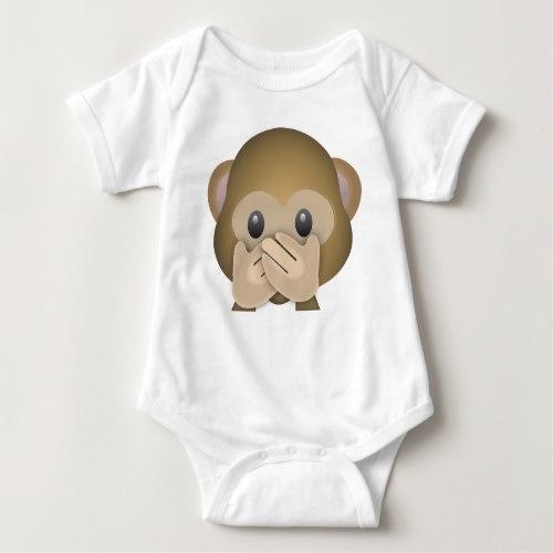 Speak No Evil Emoji Baby Bodysuit
