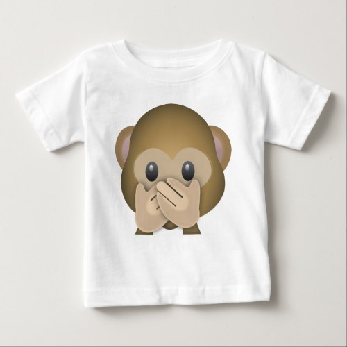 Speak No Evil Emoji Baby T-Shirt