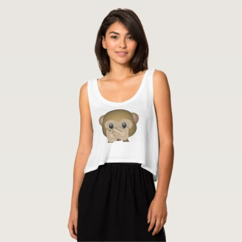 Speak No Evil Emoji Crop Top