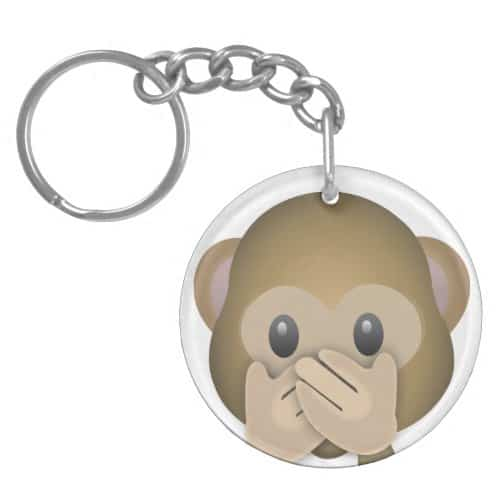 Speak No Evil Emoji Keychain
