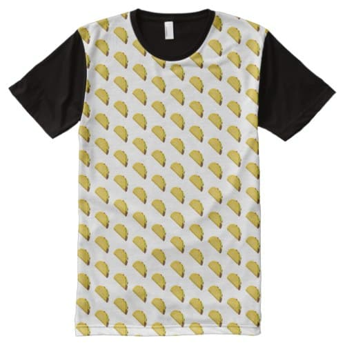 Taco Emoji All-Over-Print T-Shirt