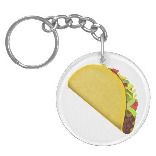 Taco Emoji Keychain