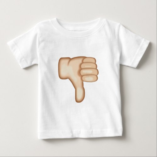 Thumbs Down Sign Emoji Baby T-Shirt