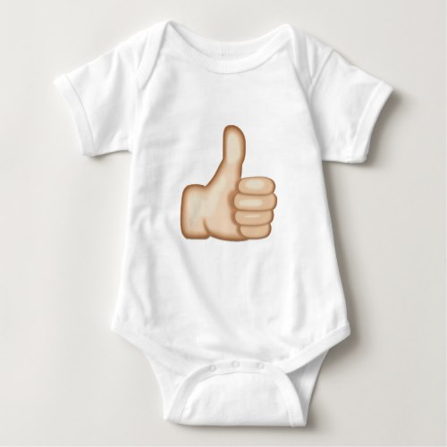 Thumbs Up Sign Emoji Baby Bodysuit