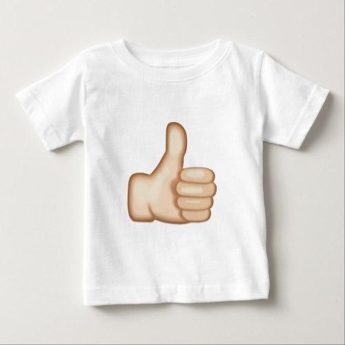 Thumbs Up Sign Emoji Baby T-Shirt