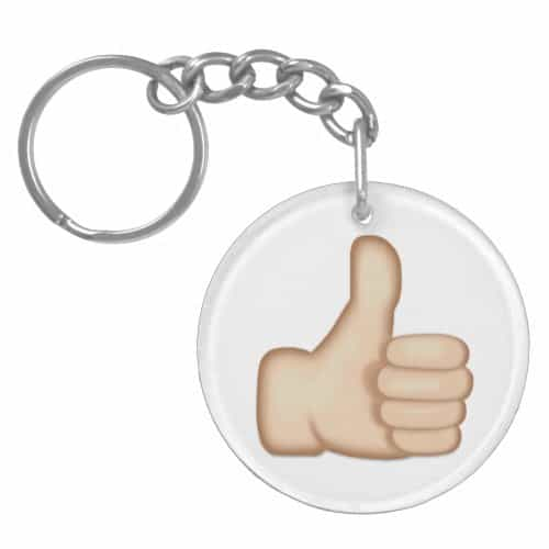 Thumbs Up Sign Emoji Keychain