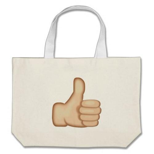 Thumbs Up Sign Emoji Large Tote Bag