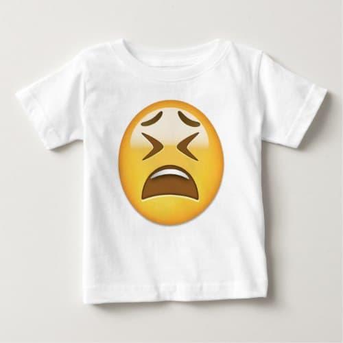 Tired Face Emoji Baby T-Shirt