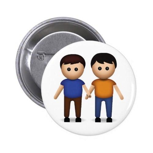 Two Men Holding Hands Emoji Button