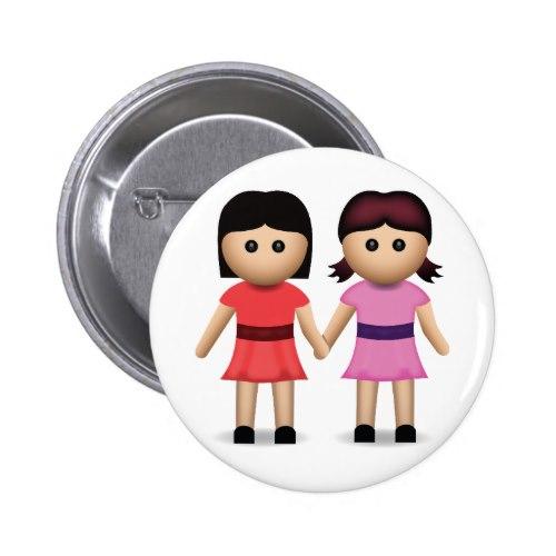 Two Women Holding Hands Emoji Button