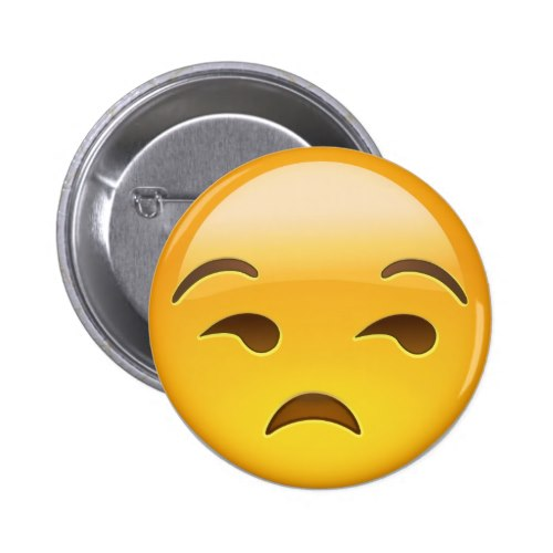 Unamused Face Emoji Button