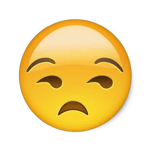 Unamused Face Emoji Classic Round Sticker