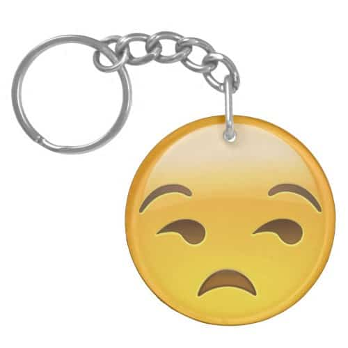Unamused Face Emoji Keychain