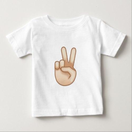 Victory Hand Emoji Baby T-Shirt