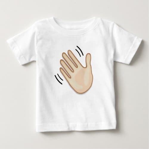 Waving Hand Sign Emoji Baby T-Shirt