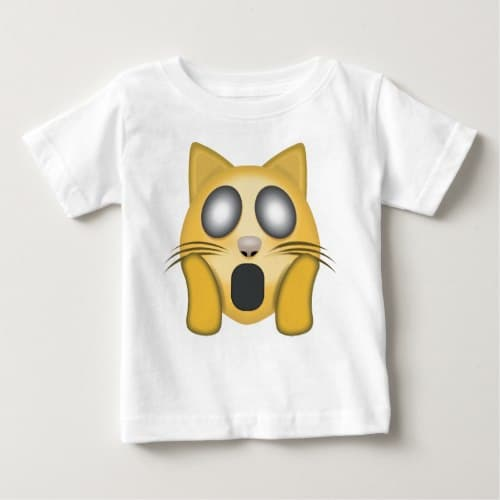 Weary Cat Face Emoji Baby T-Shirt