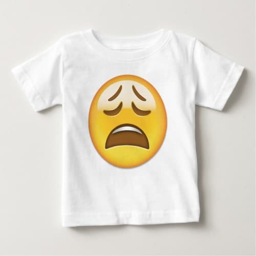 Weary Face Emoji Baby T-Shirt