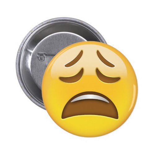 Weary Face Emoji Button
