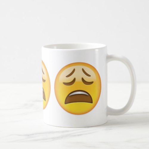 Weary Face Emoji Coffee Mug