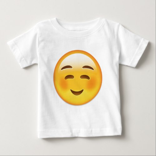White Smiling Face Emoji Baby T-Shirt