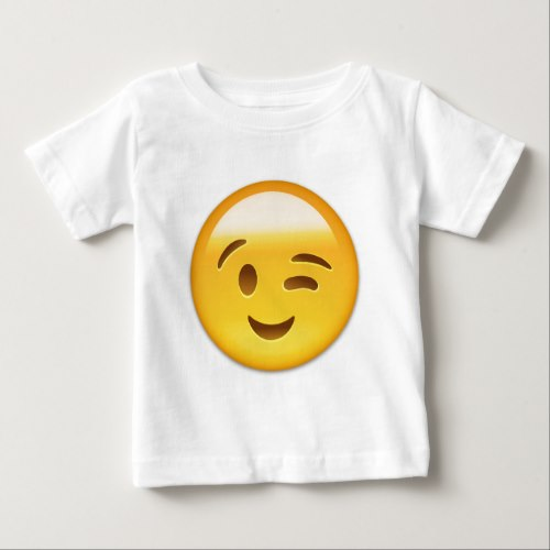 Winking Face Emoij Baby T-Shirt