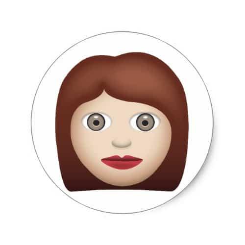 Woman Emoji Classic Round Sticker