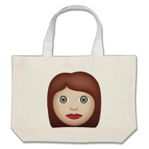 Woman Emoji Large Tote Bag