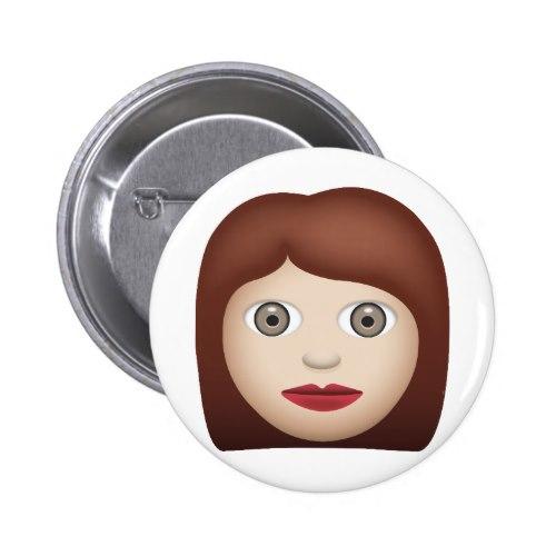 Woman Emoji Pinback Button