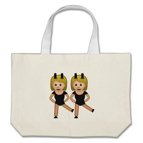 Woman With Bunny Ears Emoji Large Tote Bag
