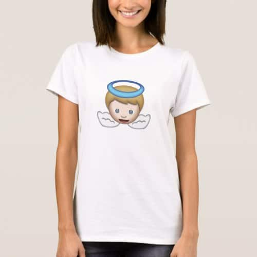 Baby Angel Emoji T-Shirt for Women